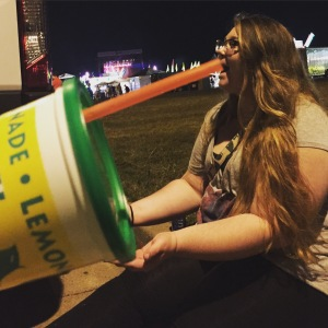 Believe it or not, this huge lemonade only cost $6.